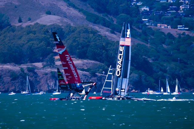 Flying on Water at 34th America's Cup