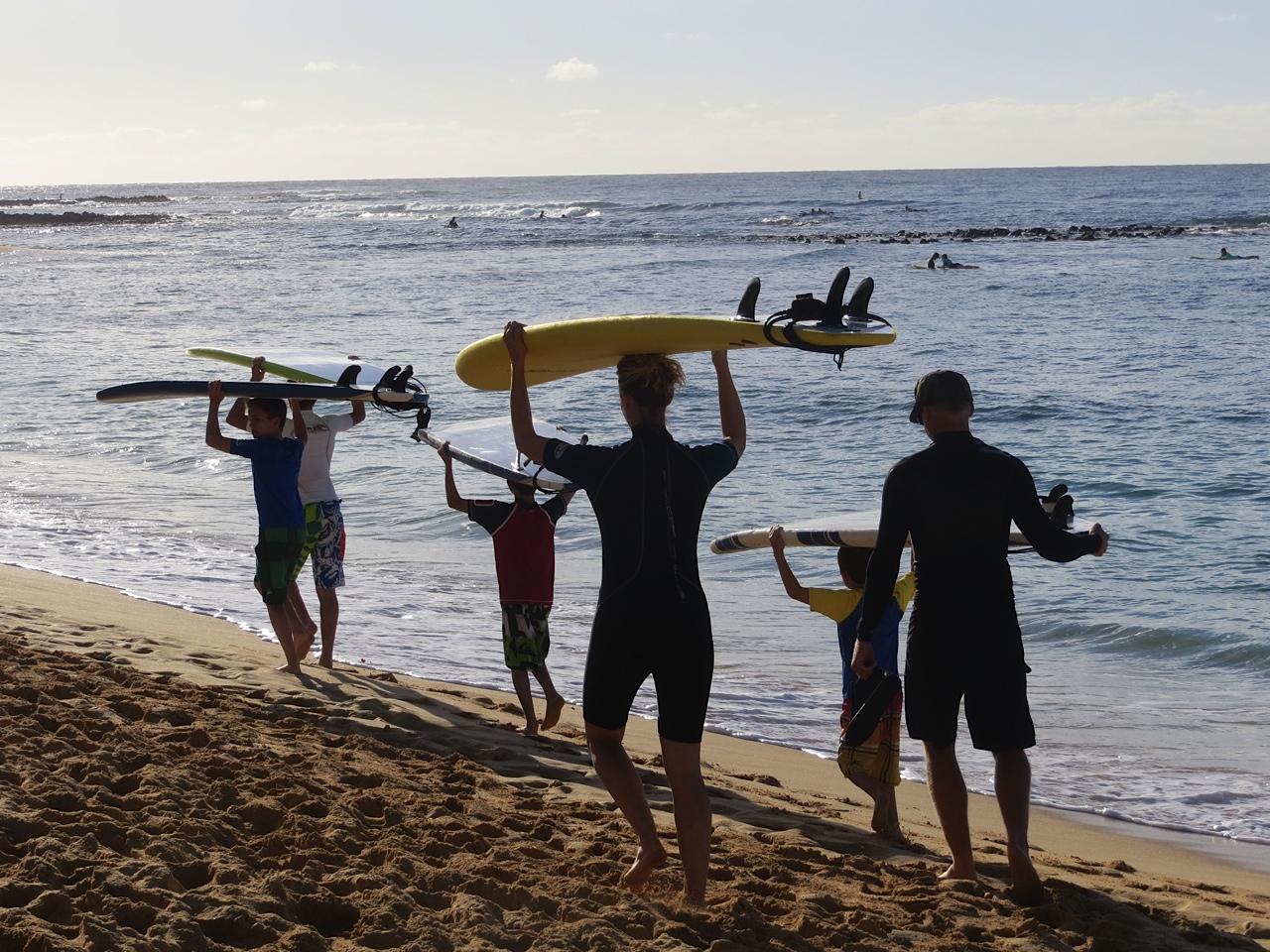 Family Hangs 10 and More in Kauai
